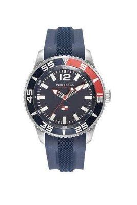 Nautica 男士手錶 NAPPBP901 太平洋海灘 44毫米 藍色錶盤 矽膠手錶