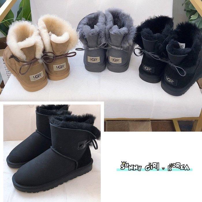 雪靴*Sunny Girl*澳洲UGG同廠真皮3378皮繩款牛筋底羊毛短筒靴 2020一月新款 - [WH1442]