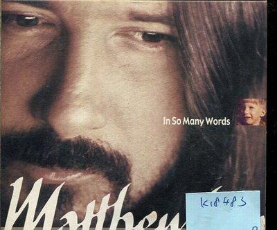 *真音樂* MATHEW LIEN / IN SO MANY WORDS 二手 K18483