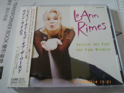 *日版CD-- LEANN RIMES黎安萊姆絲 -- SITTIN ON TOP OF THE WORLD (附側標)