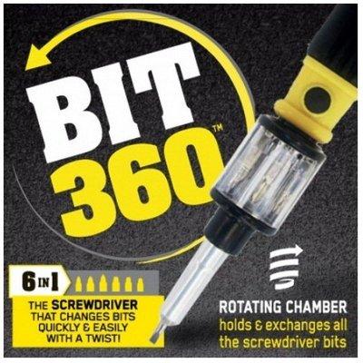【6合1螺絲刀】六合一神奇萬用螺絲起子 快速伸縮切換 SNAKE bit 360 Screwdriver
