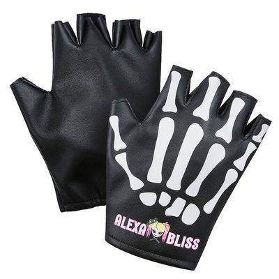 [美國瘋潮]正版WWE Alexa Bliss Little Miss Bliss Gloves 極樂小姐骷髏造型款手套