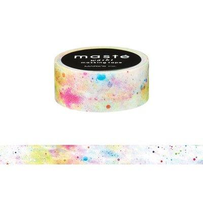【R的雜貨舖】紙膠帶分裝 MARK'S maste和紙膠帶-ィ/ホワイトコズミック 白色彩虹星空