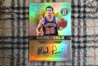Mark Price 11-12 Gold Standard 騎士隊傳奇球星控衛 限量149張金磚亮面簽名卡 三屆罰球王