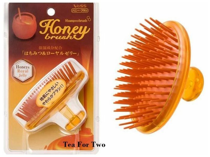 日本正品(預購) - 日本製【VeSS】蜂蜜洗髮按摩梳
