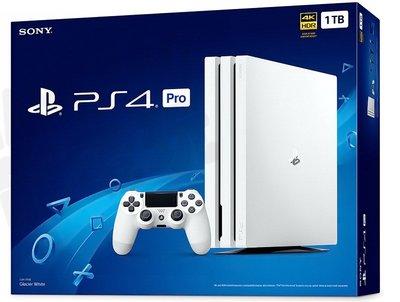 SONY PS4 PRO 新版主機 CUH-7218 1000G 1T 冰河白 白色 台灣公司貨【台中恐龍電玩】