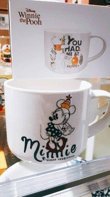 大賀屋 正版 米妮 素描 馬克杯 杯子 水杯 茶杯 陶瓷杯 陶杯 迪士尼 Minnie T00120669
