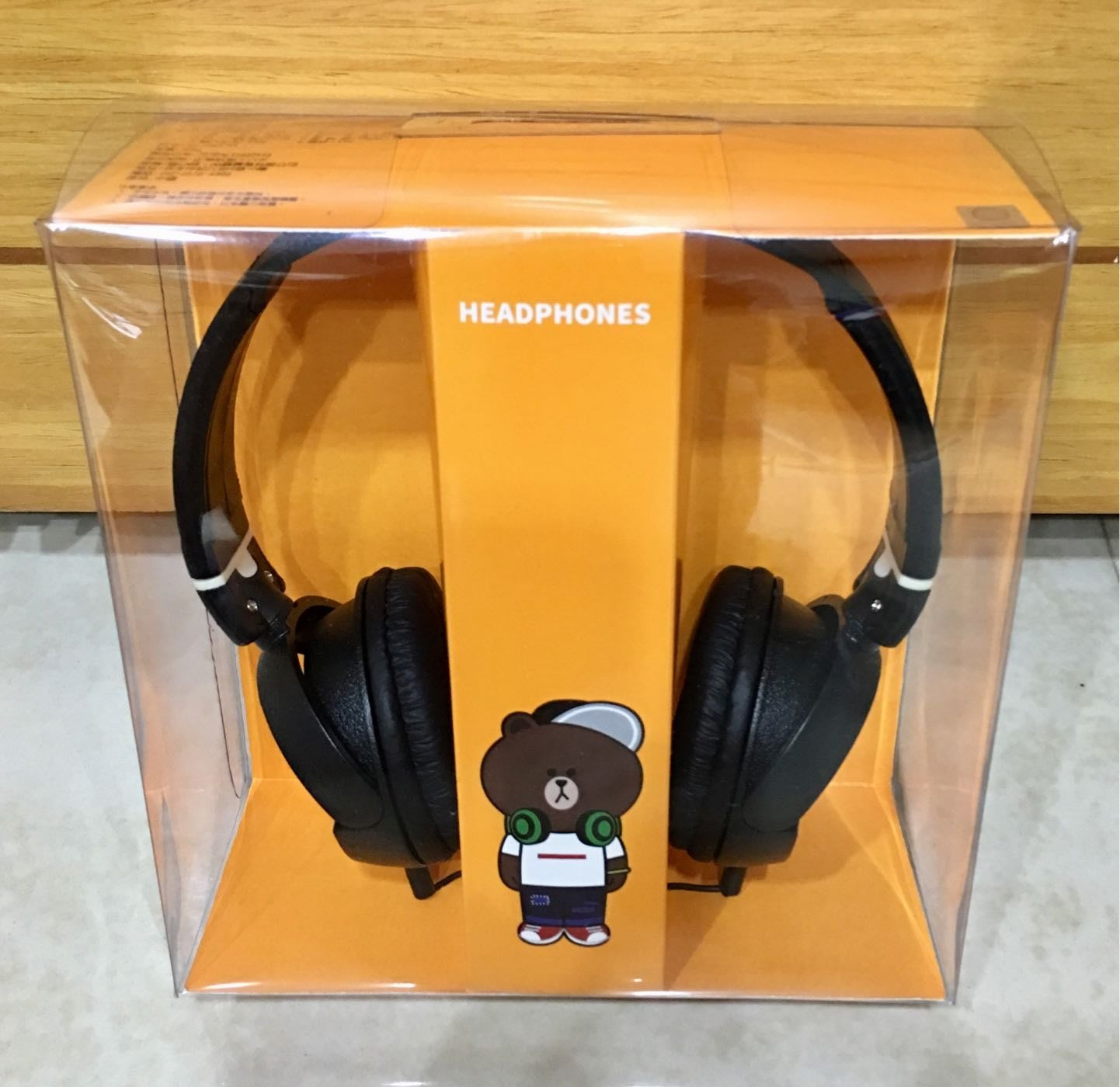 LINE Pay 熊大 全罩式耳機 全新未拆封