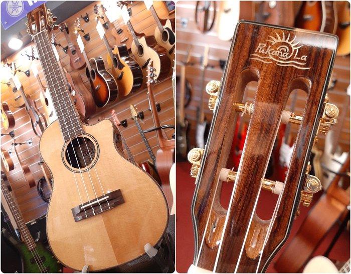 ♪♪學友樂器音響♪♪ PukanaLa PSR3-C 雲杉面單板 26吋 烏克麗麗 切角 古典琴頭