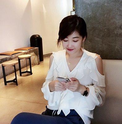 《巴黎拜金女》縐真絲仙女小清新甜美法式襯衫上衣