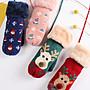 (交換禮物)手套女冬季保暖可愛韓版加絨加厚棉學生包指卡通鹿掛脖圣誕節禮物 免運
