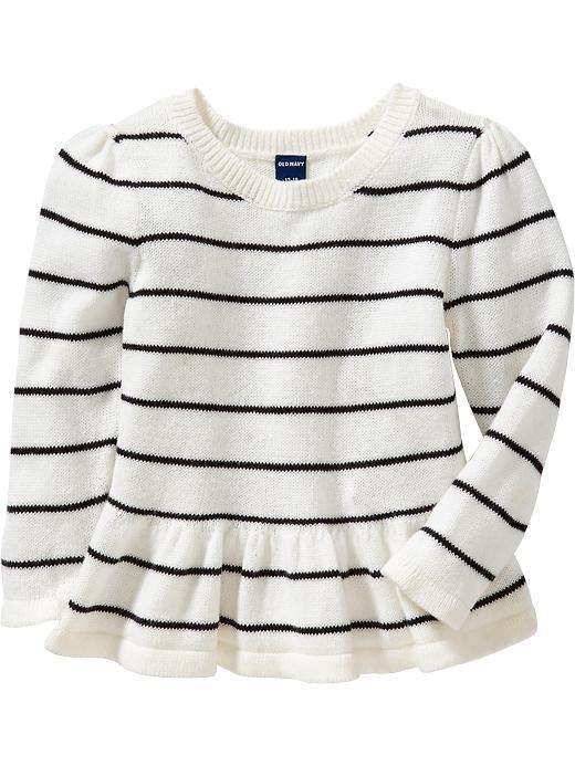 【Nichole's歐美進口優質童裝】Old Navy 女童 針織條紋長袖裙擺上衣*Carter's/OshKosh