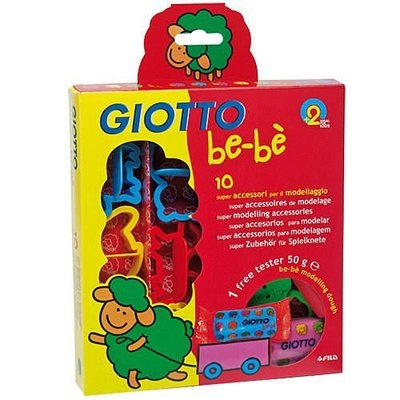 【紫貝殼】義大利 GIOTTO BEBE 寶寶黏土工具組