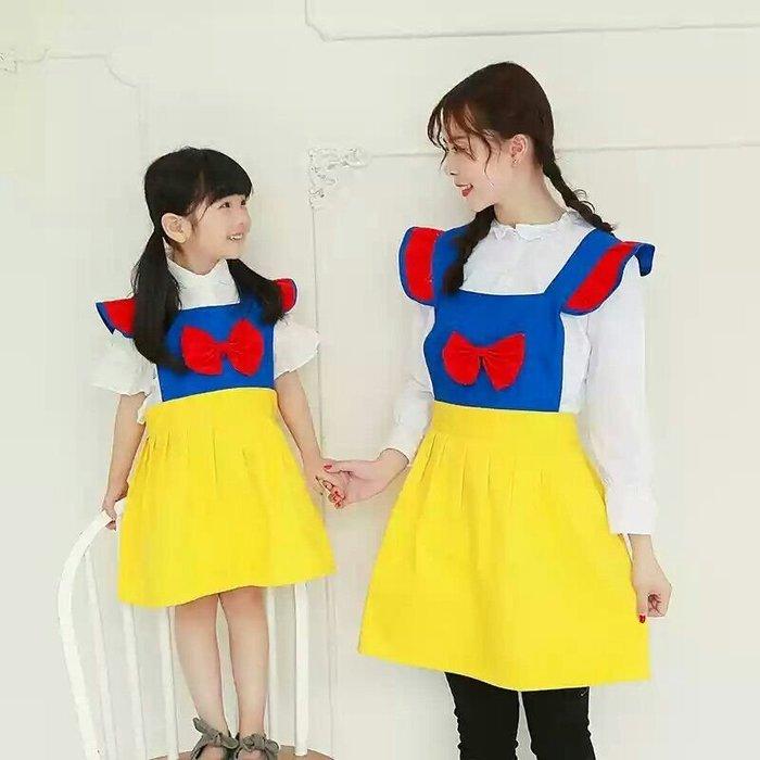 UL 1216韓版甜美白雪公主風工作圍裙 廚房餐廳咖啡店 麵包店甜美圍裙 親子圍裙 媽媽款 成人款