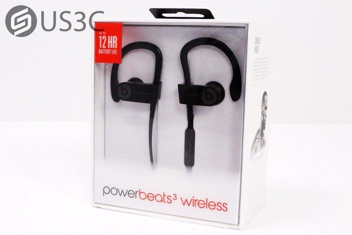 【US3C】【全新未拆】台灣公司貨 Apple Powerbeats3 Wireless 黑色 入耳式耳機 原廠保固內