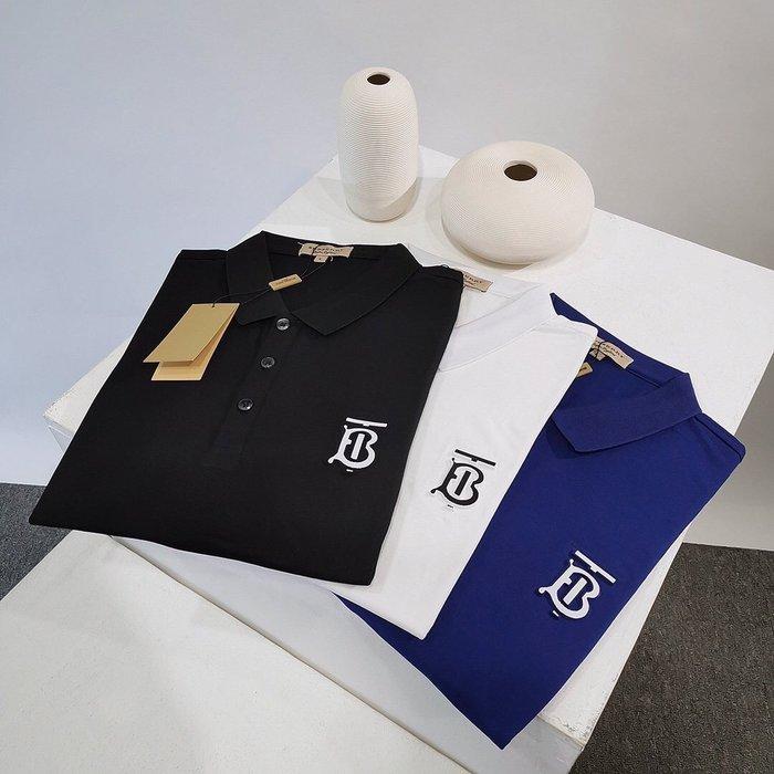 Chris精品代購 美國Outlet Burberry巴寶莉 春夏新款 素面 POLO衫 胸前TB字母Logo 三色任選