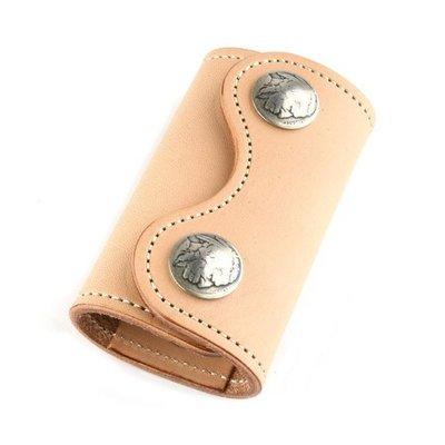 ☆野小子☆日本進口手工精緻高等級橋木牛皮個性魅力獨特限定版鑰鉂包~KCS-有4款配色可選~A12~代購款