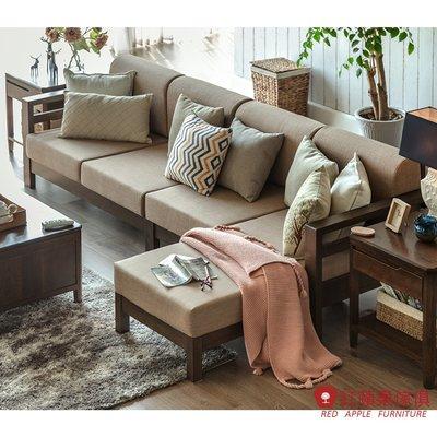 [紅蘋果傢俱]JM007 沙發 多人位沙發 邊櫃 北歐風沙發 日式沙發 實木沙發 無印風 簡約風