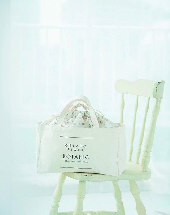☆Juicy☆日本雜誌附贈 gelato pique 花朵 碎花 抽繩 束口 托特包 便當袋 午餐袋 手拎包 7073