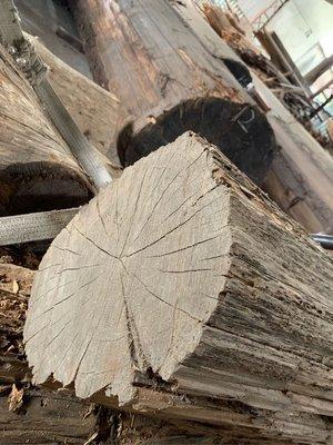 台灣檜木黃檜木hinoki 庫存小原木有@1號102x32x25公分9600元。陳大柏0937618850 振森製材所;越南檜木。寮國香杉檜木。台灣檜木;