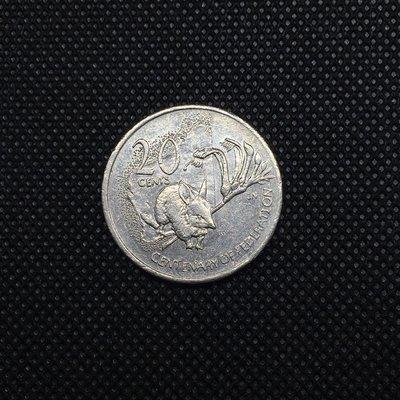 澳洲紀念幣 2001年 [ 西澳 ]- 紀念聯邦一百週年 20 cents / 20分 硬幣 錢幣 WA