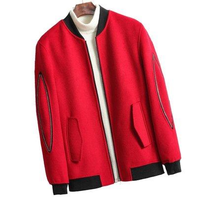 毛呢大衣 短款夾克-立領休閒舒適秋冬男外套4色73wk24[獨家進口][米蘭精品]