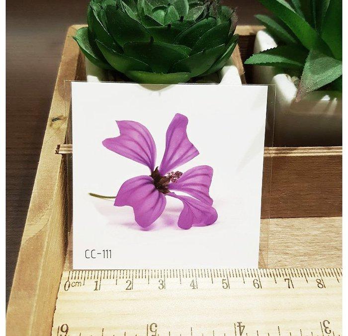 【萌古屋】花朵單圖CC-111 - 防水紋身貼紙刺青貼紙K38