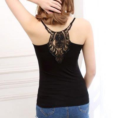 吊帶小背心 T-bra-性感獨特鏤空花紋女內衣2色73il24[獨家進口][米蘭精品]