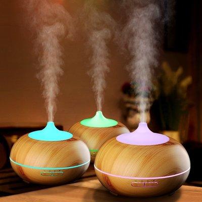 高質量深木紋/淺木紋負離子噴霧水氧機贈1瓶精油