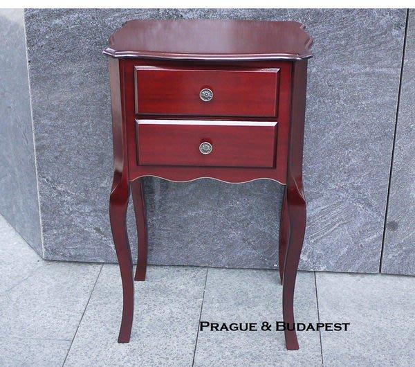 【布拉格歐風家具】歐式古典二抽花檯 電話架 (床頭櫃收納櫃北歐簡約非品東西Ikea詩肯)