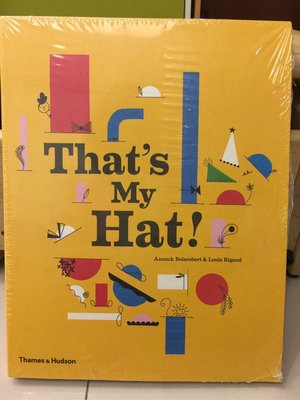 That's My Hat 立體書便宜售出。很有設計感、也可當收藏用喔。