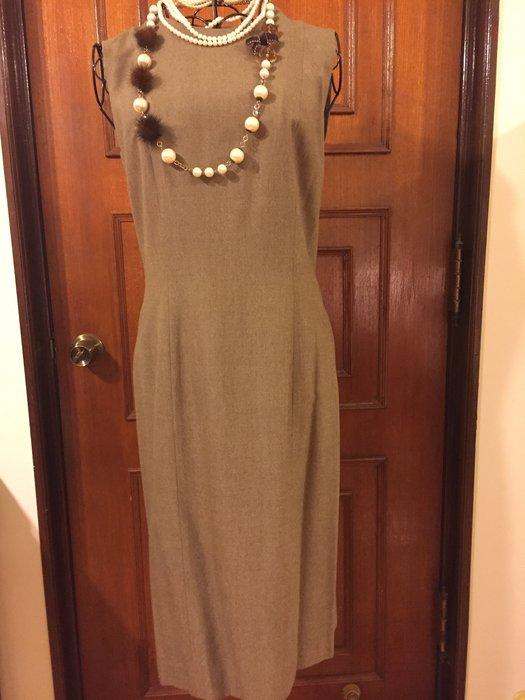 Marie Claire 法國品牌美麗佳人 - 無袖咖啡色長洋裝 (促銷商品)