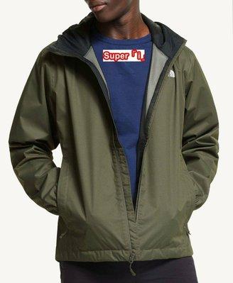「i」【現貨】The North Face 軍綠 Quest Jacket 網格內裡 防風雨 連帽 夾克 風衣外套