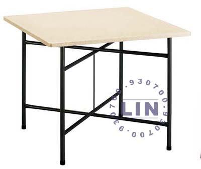 【品特優家具倉儲】R806-28餐桌剪刀腳纖維桌白石花