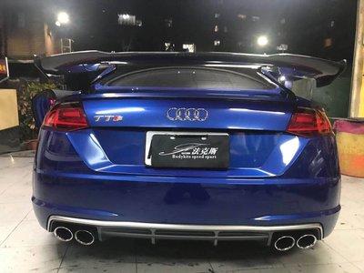 法克斯 Audi MK1 MK2 MK3 TT  特式版RS 抽真空碳纖維尾翼