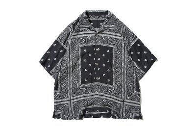 "[ LAB Taipei ] UNUSED "" US1798 BANDANA PRINT S/S SHIRT """