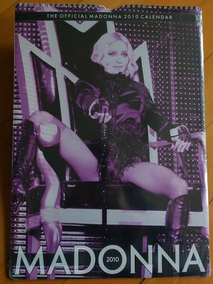 (全新未拆)MADONNA The Official Calender 2010, Printed in the UK 09年
