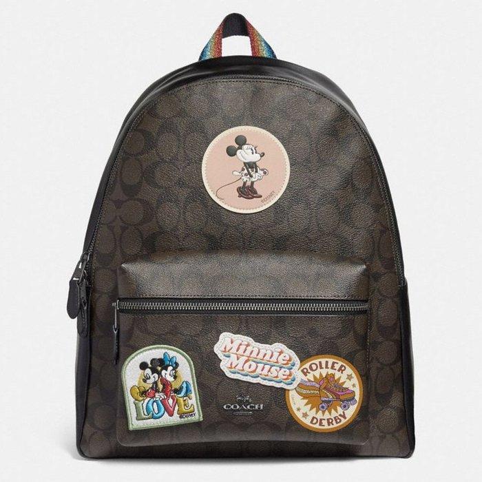 【小怡代購】 全新COACH 29355 美國正品代購新款 女士雙肩旅行包 休閒包 書包 超低直購