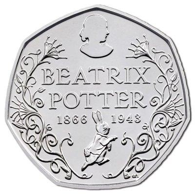 【幣】英國2016年發行 50 PENCE 彼得兔系列紀念幣(單枚)---1