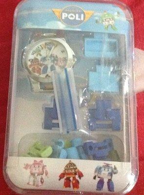 全新POLI波力(藍)積木手錶適合送禮