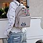 Anya Hindmarch Space Invasion mini backpack 小精靈後背包 灰白 現貨