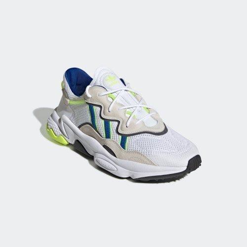 【吉米.tw】ADIDAS ORIGINALS OZWEEGO 白灰藍 老爹鞋 復古 麂皮 男鞋 EG8128 AUG