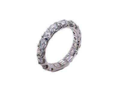 限時特價!天然鑽石真鑽 豪華大顆粗板線戒 排鑽戒 2.85克拉 14K金鑽戒 男女適用