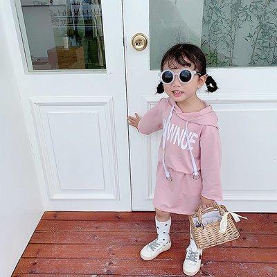 【溜。溜。選物】1+1 中小童新款秋裝粉嫩字母上衣+短裙 運動套裝
