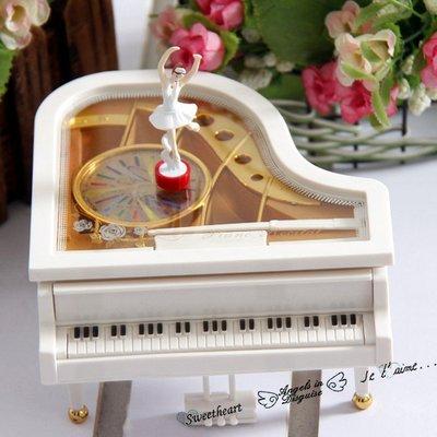 千禧禧居~情人節禮物創意新年禮物生日跳舞女孩鋼琴音樂盒旋轉芭蕾舞發條式