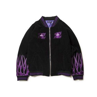【Result】NFG黑紫火焰刺繡忍者外套 Hiphop IT G MA 限量