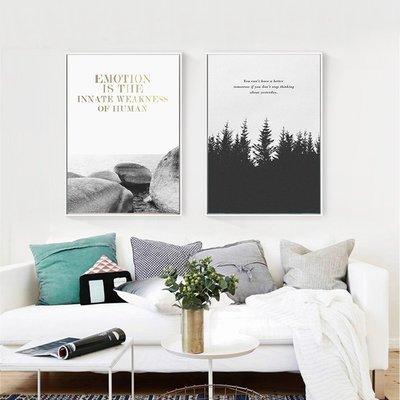 C - R - A - Z - Y - T - O - W - N 黑白風景英文字裝飾畫 現代藝術掛畫 住宅空間設計掛畫