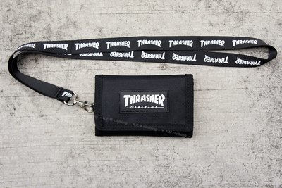 【 K.F.M 】THRASHER HOMETOWN WALLET 黑標 日本支線 帆布材質 錢包 皮夾