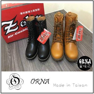 【ORNA 爾瑞菈】零碼特價 現貨 ZOBR 正版 側邊拉鍊靴子設計 中筒馬靴 軍靴 女鞋 女靴