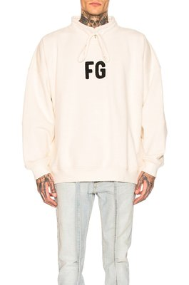 FEAR OF GOD MOCK NECK 'FG' 罩衫